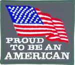 Flag Patches - Proud to be American